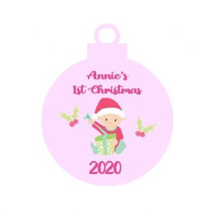 1st Christmas Baby Girl Acrylic Christmas Ornament Decoration